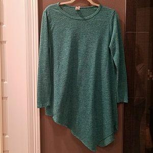 Sweaters - Teal Tunic Sweater